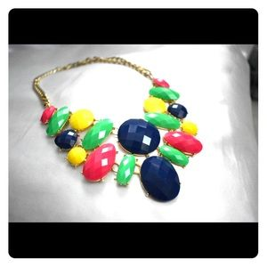 Primary color statement necklace